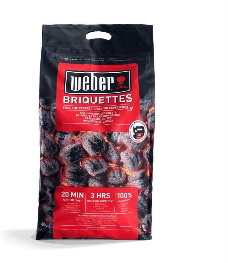 Weber 17591 - Briquetas de carbón vegetal para barbacoa